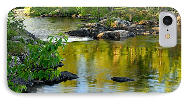 Evening Reflections At Lower Basswood Falls IPhone Case by Larry Ricker