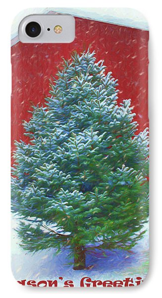 Evergreen In Winter 3 IPhone Case by Nikolyn McDonald