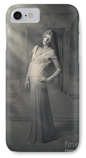 Evil Vintage Ghost At Scary Haunted Castle IPhone Case by Jorgo Photography - Wall Art Gallery