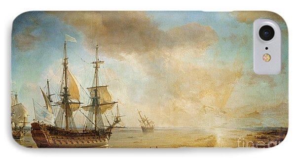 Expedition Of Robert Cavelier De La Salle  IPhone Case by Jean Antoine Theodore Gudin