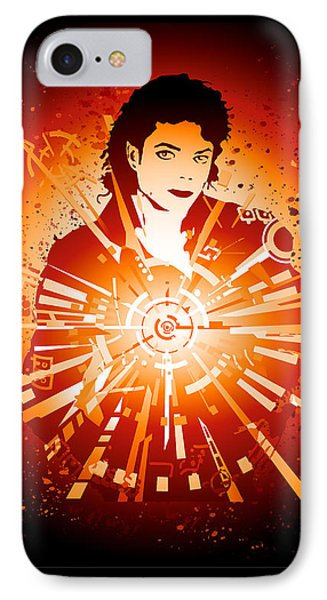 Energy Force Of Michael Jackson IPhone Case by Adz Akin