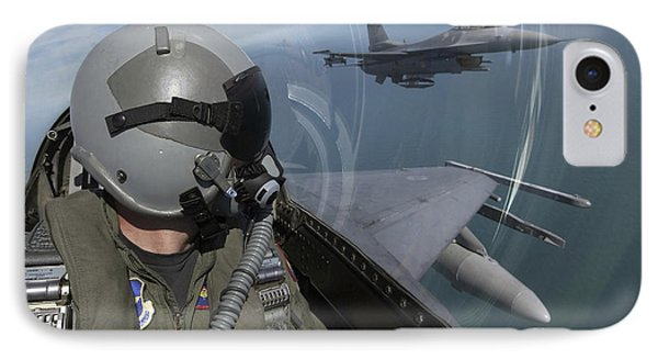 F-16 Fighting Falcons Flying Phone Case by Stocktrek Images