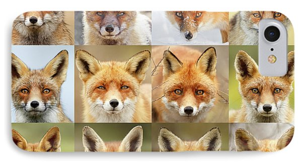 Faces Of Foxes IPhone Case by Roeselien Raimond