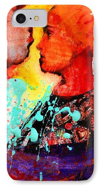 Facing The Self IPhone Case by Nevena Bentz