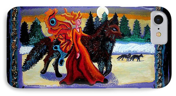 Faerie And Wolf Phone Case by Genevieve Esson