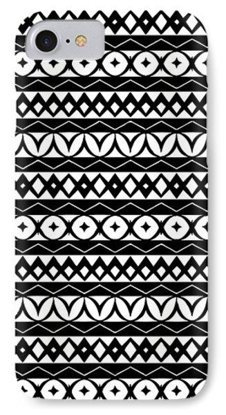 Fair Isle Black And White IPhone 7 Case by Rachel Follett