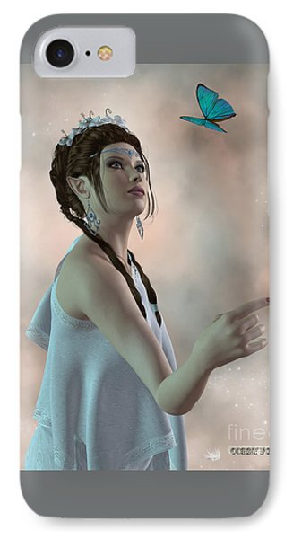Fairy And Butterfly Phone Case by Corey Ford