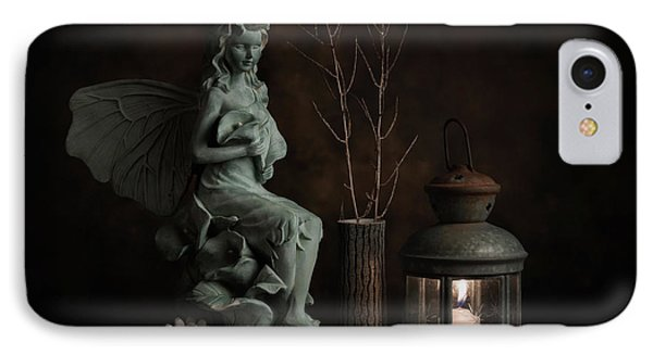 Fairy With Lilies IPhone Case by Tom Mc Nemar