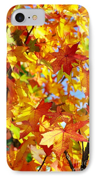Fall Leaves Background Phone Case by Carlos Caetano
