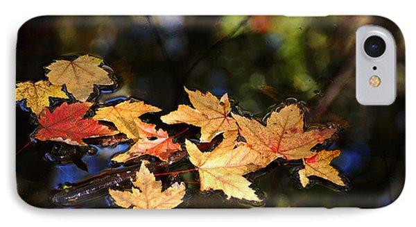 Fallen Leaves On Pond IPhone Case by Debbie Oppermann