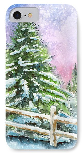 Falling Snowflakes Phone Case by Arline Wagner