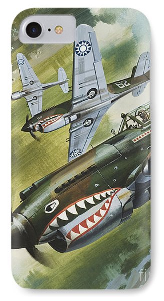 Famous Aircraft And Their Pilots IPhone 7 Case by Wilf Hardy