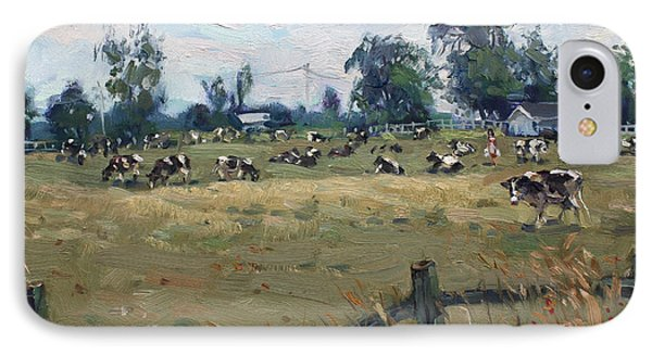 Farm In Terra Cotta On IPhone Case by Ylli Haruni