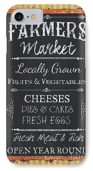 Farmer's Market Signs IPhone Case by Debbie DeWitt