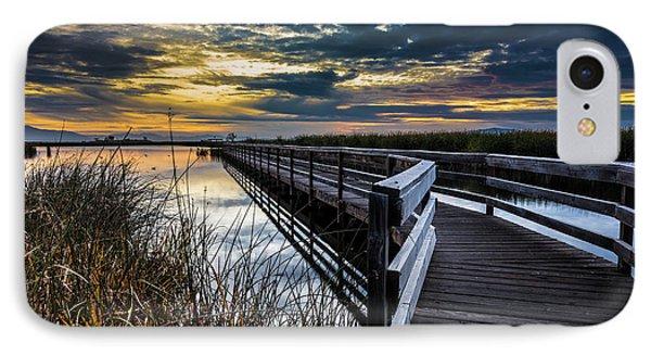 Farmington Bay Sunset - Great Salt Lake IPhone Case by Gary Whitton