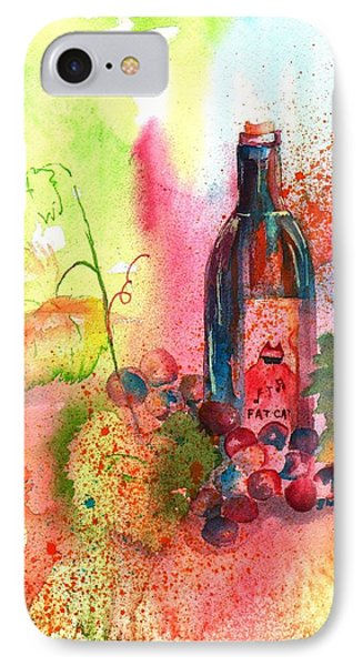Fat Cat Wine Phone Case by Sharon Mick