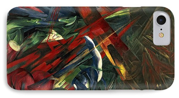 Fate Of The Animals Phone Case by Franz Marc