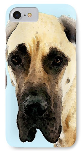 Fawn Great Dane Dog Art Painting IPhone Case by Sharon Cummings