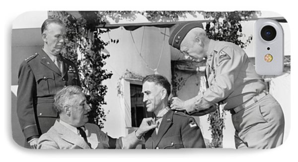 Fdr Presenting Medal Of Honor To William Wilbur Phone Case by War Is Hell Store