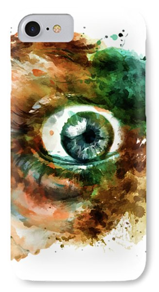 Fear Eye Watercolor IPhone Case by Marian Voicu