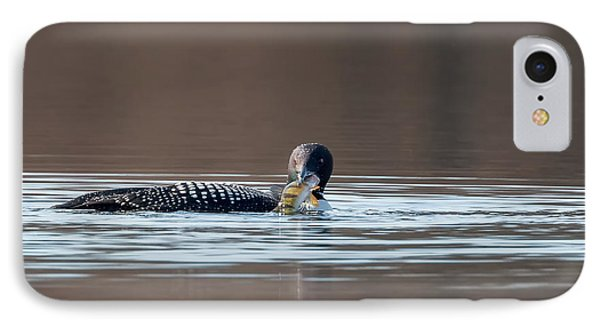Feeding Common Loon IPhone 7 Case by Bill Wakeley