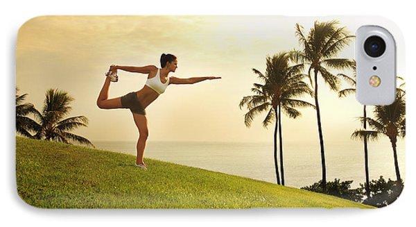 Female Doing Yoga Phone Case by Brandon Tabiolo - Printscapes