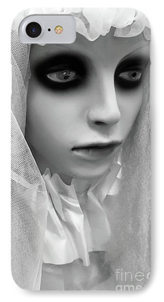 Female Ghost Halloween Print -  Dearly Departed Ghostly Female Soul - My Beloved IPhone Case by Kathy Fornal
