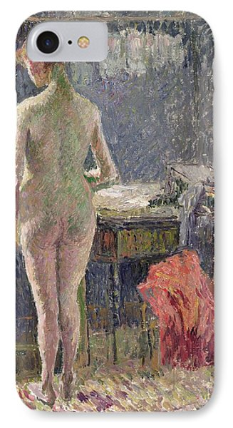Female Nude Seen From The Back IPhone Case by Camille Pissarro
