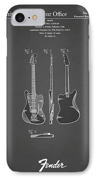 Fender Electric Guitar 1959 IPhone 7 Case by Mark Rogan