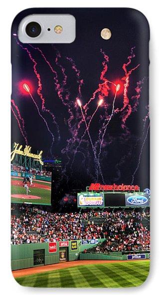 Fenway Park Fireworks - Boston IPhone Case by Joann Vitali