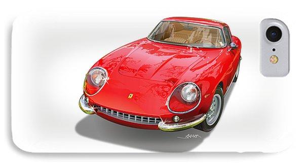 Ferrari 275 Gtb Illustration IPhone Case by Alain Jamar