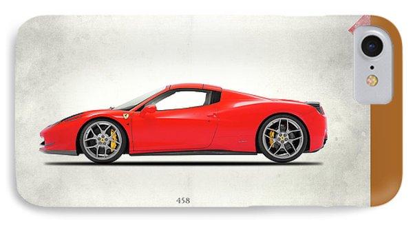 Ferrari 458 Italia IPhone 7 Case by Mark Rogan