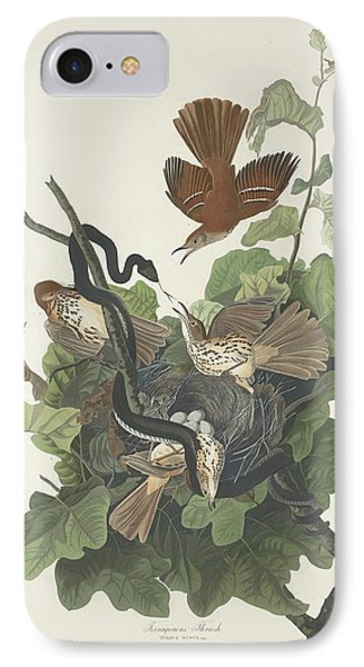 Ferruginous Thrush IPhone 7 Case by John James Audubon