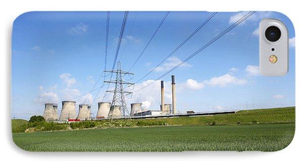 Ferrybridge Power Station And Rape Field IPhone Case by Mark Sykes