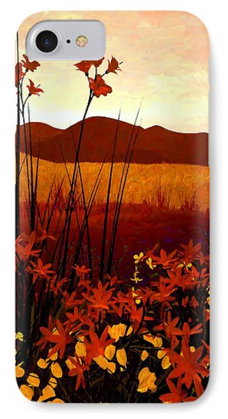 Field Of Flowers IPhone Case by Cynthia Decker