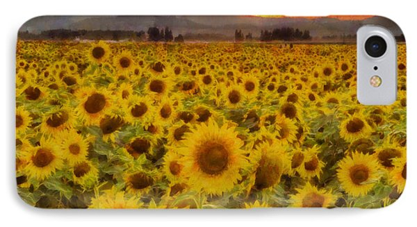 Field Of Sunflowers IPhone Case by Mark Kiver