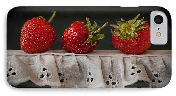 Field Strawberries IPhone Case by Maggie Terlecki