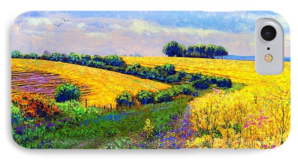 Fields Of Gold IPhone 7 Case by Jane Small