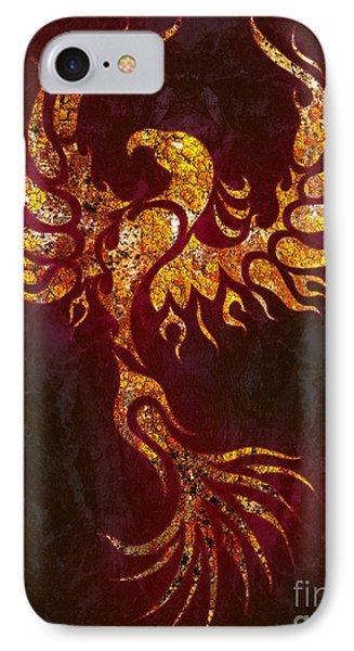 Fiery Phoenix IPhone Case by Robert Ball