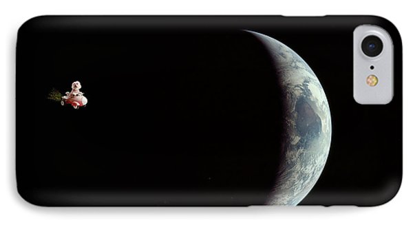 Fifi In Space Phone Case by Michael Ledray