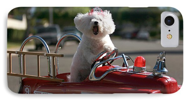 Fifi The Bichon Frise To The Rescue Phone Case by Michael Ledray