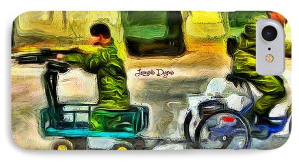 Fighters At War - Da IPhone Case by Leonardo Digenio