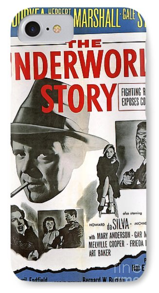 Film Noir Poster   The Underworld Story IPhone Case by R Muirhead Art
