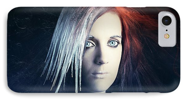 Fire And Ice Portrait IPhone Case by Johan Swanepoel