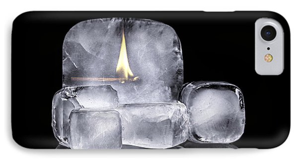 Fire And Ice IPhone Case by Tom Mc Nemar