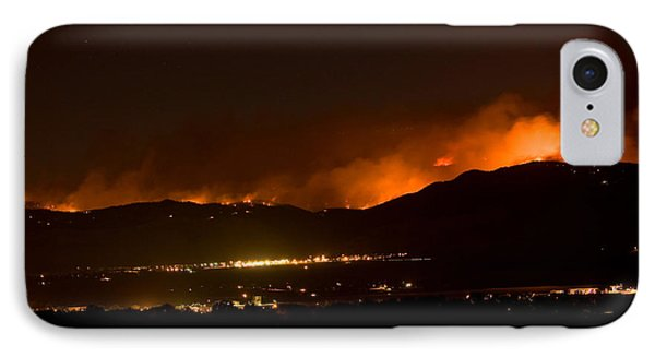 Fire In The Mountains No Lightning In The Air  Phone Case by James BO  Insogna