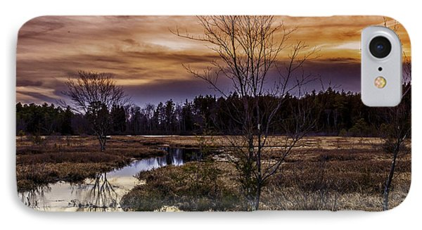 Fire In The Pine Lands Sky IPhone Case by Louis Dallara