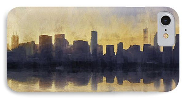 Fire In The Sky Chicago At Sunset IPhone Case by Scott Norris