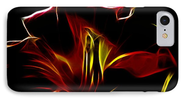 Fire Lily IPhone Case by Cheryl Young