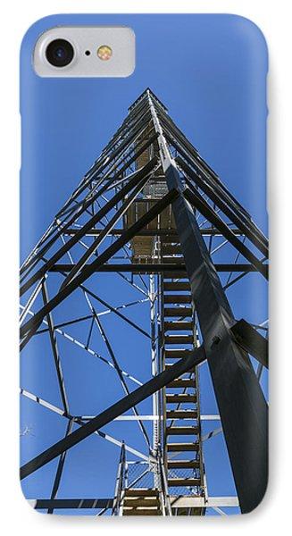 Fire Watch Tower Elba 1 IPhone Case by John Brueske